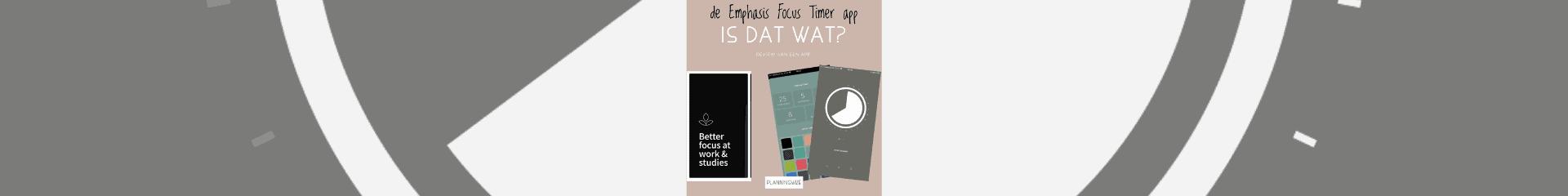"""De """"Emphasis Flow Timer"""", is dat wat?"""